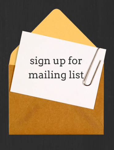 sign up for mailing list (1) – John Garden